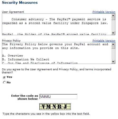 ペイパルアカウント登録5
